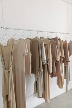 Retail Clothing Racks, Retail Shelving, Beige Aesthetic, Color Inspiration, Fashion Inspiration, Casual Elegance, Color Stories, The Chic, Beige Color