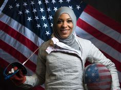 Ibtihaj Muhammad is an American sabre fencer and member of the United States fencing team. She is best known for being the first Muslim woman who wears a hijab to qualify for the United States Olympic Team.