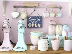 Keuken in pastel