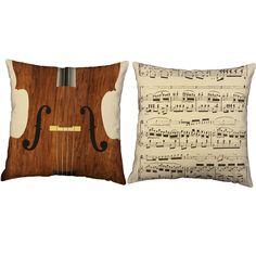 Bass Cello Instrument Throw Pillows