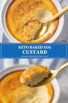 Keto Baked Egg Custard This easy Keto Baked Egg Custard is a great low-carb dessert to make when you are feeding a crowd. It's smooth, creamy and no one will guess that it's sugar-free. Baked Egg Custard, Egg Custard Recipes, Sugar Free Egg Custard, Sugar Free Custard Recipe, Bon Dessert, Keto Dessert Easy, Dessert Recipes, Dinner Recipes, Low Carb Sweets