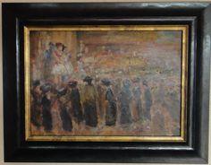 Jan Cossaar: personen kijkend naar een uitvoering