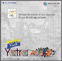 We hope the Chariots of Lord Jagannath fill your life with Joy and Love.