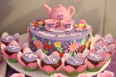 """Tea Party / Birthday """"Purple & Pink Tea Party for Kaneisha"""" 
