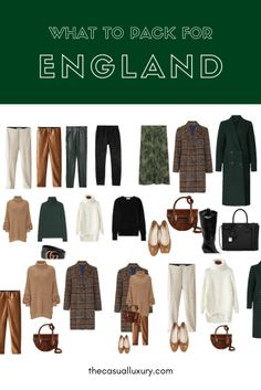 Use this guide as a resource and it will save you the headache of wondering what to pack for England in the Spring / Fall. England Packing List / Europe Packing List / What to Pack for England / What to wear in London / #EuropeTravelTips #EuropeTravel #PackingList