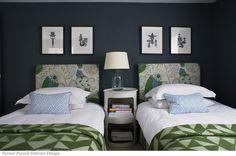 blue green color palette framed art glass lamp graphic textiles