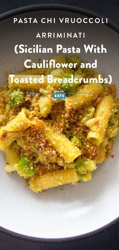 Cauliflower cooked down into a savory-sweet sauce with Sicilian staples: anchovies, pine nuts, raisins, saffron, and toasted breadcrumbs. #StarchMadness #Pasta #Italian #EasyRecipes #SeriousEats Cauliflower Pasta, Unique Recipes, Ethnic Recipes, Vegetarian Recipes, Healthy Recipes, Sicilian, Bread Crumbs, Pasta Dishes, Risotto Dishes