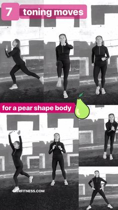 7 Lower Body Toning Moves that are ideal for a Pear Shape - These 7 Total Body Moves focus on slimming your lower body, without building any bulk, I have also added some arms moves to help shape and sculpt through the a Fitness Workouts, At Home Workouts, Fitness Tips, Fitness Motivation, Motivation Quotes, Fitness Goals, Power Walking, Body Fitness, Health Fitness