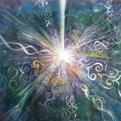 and then there was light. Painting by Avigail Sapir . Fractal Art, Fractals, Light Painting, Spirituality, Instagram Posts, Spiritual