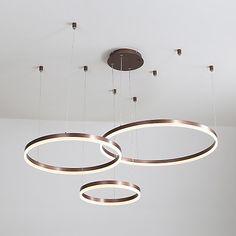 led circle chandelier / led modern pendant lights for . Circle Chandelier, Modern Chandelier, Chandelier Lighting, Chandelier Ideas, Led Pendant Lights, Modern Pendant Light, Living Room Inspiration, Home Decor Inspiration, Interior Lighting