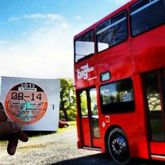 OM #Ireland showing off their tax disc for their Big Red Bus, one of the main features of their creative arts ministry. We're looking forward to hearing the God Stories from this ministry in 2014!  www.om.org