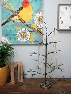 November Handwelded recycled steel tree for by jadekudzuArt, $65.00