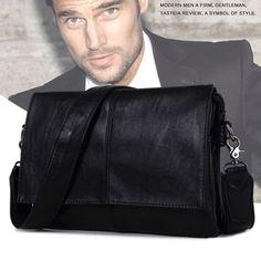 New Designer Crossbody Bags Men Male Bag PU Leather Vintage Messenger Men Travel Business Leisure Shoulder Bags