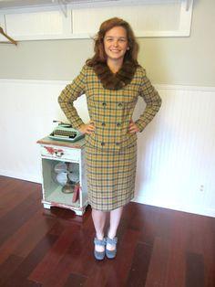 60's Plaid Suit / 1960's Jacket And Skirt by ElizabethJeanVintage