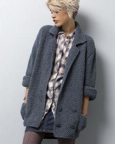 Удлиненный жакет-куртка