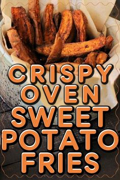 Delicious sweet potato fries that are crispy without frying! Follow these directions for oven-baked fries that are perfectly crisp! #sweetpotatofries Sweet Potato Wrap, Quinoa Sweet Potato, Sweet Potato Recipes, Oven Baked Fries, Fries In The Oven, Roasted Vegetable Soup, Vegetable Recipes, Fried Potatoes, Roasted Sweet Potatoes