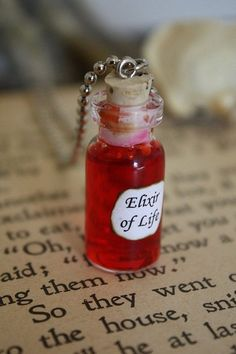 See how well that you do! Harry Potter Potions, Harry Potter Items, Harry Potter Room, Bottle Jewelry, Bottle Charms, Bottle Necklace, Magic Bottles, Bottles And Jars, Hogwarts