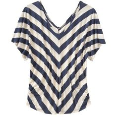 Old Navy Womens Chevron-Stripe Dolman Sleeve Tees ($25) ❤ liked on Polyvore featuring tops, t-shirts, shirts, tees, women, old navy, v neck shirts, chevron shirt, ruched t shirt and old navy t shirts