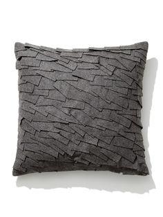 Felt Ruffle Square Pillow