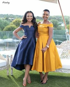 Wedding Guests Are Bringing Their A-Game - See Their Eye-Popping Fashion-Forward Statements - Wedding Digest Naija African Print Dresses, African Print Fashion, African Fashion Dresses, African Dress, African Attire, African Wear, Look Fashion, Fashion Outfits, Lovely Dresses