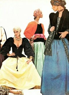 Vintage Fashin Saint Laurent 1970's