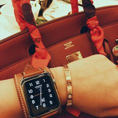 "4d93216c352d Apple iWatch Fashion Styles on Instagram  ""What does everybody think of  these new Hermes Apple Watch Bands ! Sure looks  classyAF next to that  Hermes bag!!!"