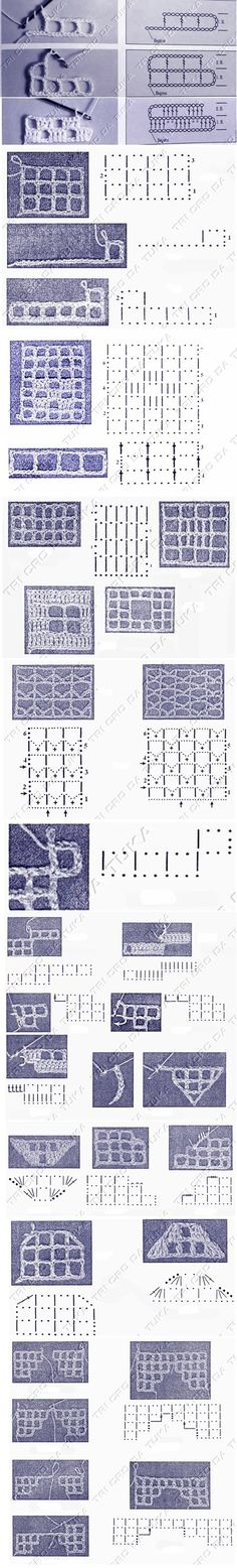 Technique | how-to filet crochet •✿• Teresa Restegui http://www.pinterest.com/teretegui/ •✿•