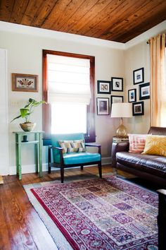 Kristen & Michelle's Modern Bohemian - love the way the pictures are hung