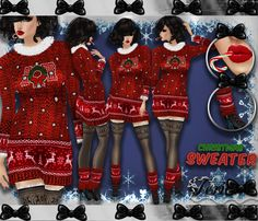 ✿☆ ¸. • * ¨ * • ☆NEW IN MY SHOP!!!☆ ¸. • * ¨* • ✿  ✮CHRISTMAS SWEATER DRESS BUNDLE: http://www.imvu.com/shop/product.php?products_id=35667366  *Comes with sweater dress, mouth candy cane, and warmer boots.  ✿My Full Catty:  http://www.imvu.com/shop/web_search.php?manufacturers_id=95572994  ✿SellingBeauty Catty:  http://www.imvu.com/shop/web_search.php?manufacturers_id=102695625  ✿☆ ¸. • * ¨ * • ☆NEW IN MY SHOP!!! ¸. • * ¨* • ☆✿