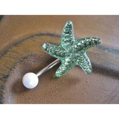 Belly Button Jewelry Ring- Starfish Shell Star Fis ($12.5)