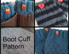 Knit Boot Cuff PATTERN PDF