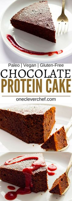 This chocolate flavored vegan mud cake is dense, fudgy, rich and so satisfying! Healthy to boot, flourless and refined sugar-free, there is no shame in having a second piece of this guilt-free decadent dessert. With a whopping 14 grams of protein per port Low Carb Dessert, Healthy Dessert Recipes, Gluten Free Desserts, Healthy Desserts, Cake Recipes, Protein Recipes, Protein Foods, High Protein, Vegan Recipes