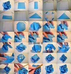 101 Best Origami Rose tutorial pictures on Kawasaki Rose instructions - Trend Craft ideas Origami Design, Diy Origami, Origami And Kirigami, Paper Crafts Origami, Useful Origami, Diy Paper, Origami Cranes, Paper Gifts, Paper Pin