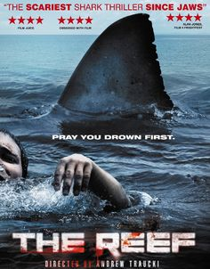 MOVIDEOO: THE REEF (2010) A great white shark hunts the crew of a capsized sailboat along the Great Barrier Reef. Movie Details Movie Name: The Reef (2010) Movie Size : 1,1 GB Movie Quality: 720p HD Movie Format: MP4 Running Time: 91 Minutes Movie Type: Horror, Thriller