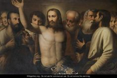 Christ Amongst The Disciples - (after) Alessandro Bonvicino (Moretto Da Brescia)