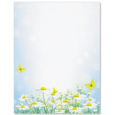 Daisy Dancing Letter Paper | Idea Art Kindergarten Coloring Pages, Classroom Birthday, Frame Clipart, Borders And Frames, Note Paper, Graphic Prints, Spring Time, Note Cards, Daisy