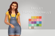 "pxelfolk: "" amylet short overalls - ever so lovely excuse this pretty bummed out preview, i am experimenting with a new preview style. but im not content yet. however. i wanted to get this out. • 21..."
