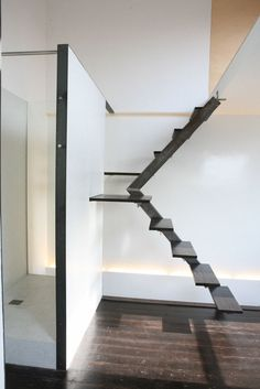 Stairs: Mini-Maison by Vanden Eeckhoudt-Creyf Architectes | HomeDSGN, a daily source for inspiration and fresh ideas on interior design and home decoration.