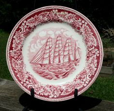Currier & Ives Clipper Ship Plate by PineCottageVintage
