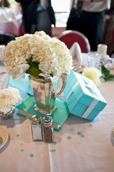 Mrs. Lovebug inspired centerpieces :  wedding carnation centerpieces hydrangea lovebug Ken And Brianna Wedding 445