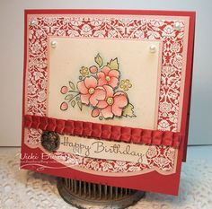 CC357.....A Little Birthday Romance - Vicki Burdick