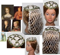 NEW design Teardrop Juliet style Cap & Snood, Renaissance, Medieval,Elizabethan, Headpiece, Headdress,Hairpiece, Renaissance Inspired by ZzDesign on Etsy