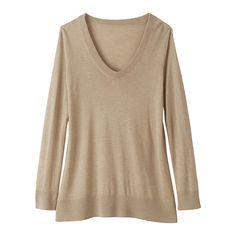 Buy Winser Silk/Cashmere Jumper, Beige Melange, 8 Online at johnlewis.com