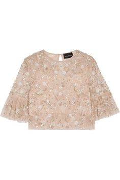 Blush tulle Button-fastening keyhole at back 100% polyester; lining: 100% polyester Dry clean Designer color: Petal Pink