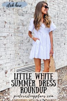 Click to see these white dresses on Pinteresting Plans! White dress classy elegant short. Best white dress outfit casual summer and white dress outfit casual street style. White summer dress outfit classy fashion. White sundress outfit casual. White sundress short summer. White sundress outfit summer. White sundress short outfit. White sundress long summer. White sundress short retro vintage. White sundress outfit class. White summer dress outfit classy chic. #summer #dress #outfit White Sundress Outfit, White Sundress Long, Casual Dress Outfits, White Dress Summer, Summer Dress Outfits, Little White Dresses, Stylish Outfits, Classy Chic, Classy Dress