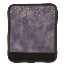 #Rose gold confetti purple grey watercolor batik luggage handle wrap - #travel #accessories