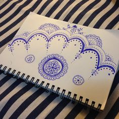 Inspired by henna design #doodle #zentangle #mandala