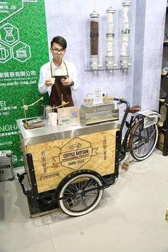 Carro Mobile Shop, Mobile Cafe, Beer Bike, Mobile Food Cart, Food Cart Design, Bike Food, Bakery Interior, Food Truck, Coffee Shop Logo