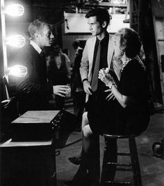 Steve McQueen visits Anthony Perkins & Janet Leigh on the set of Psycho