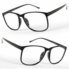 93252ffe811 Details about New Large Oversized retro fashi Glasses Clear Lens Thin Frame  Nerd Glasses Retro